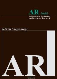 začetki / beginnings - Fakulteta za arhitekturo - Univerza v Ljubljani