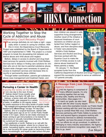 HHSA Connection - County of San Diego - State of California