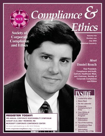 Meet Daniel Roach - Society of Corporate Compliance and Ethics