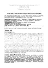 Rapport du 10 juillet 2009 - Commune de Tramayes