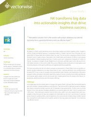 NK transforms big data into actionable insights that drive ... - Actian