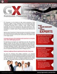 Download The Data Processing Services Flyer - PCI Geomatics