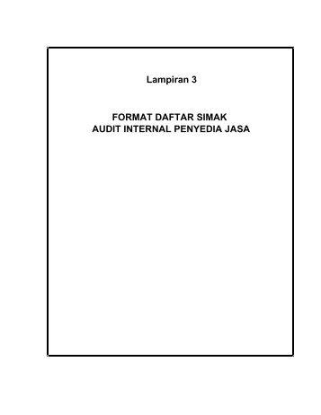 lampiran 3- audit - Departemen Pekerjaan Umum