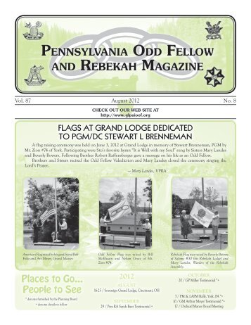 Aug - Grand Lodge of Pennsylvania, Independent Order of Odd ...