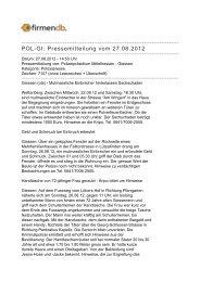 POL-GI: Pressemitteilung vom 27.08.2012 - Firmendb