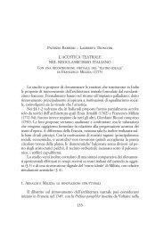 L'acustica teatrale nel neoclassicismo italiano ... - Patrizio Barbieri
