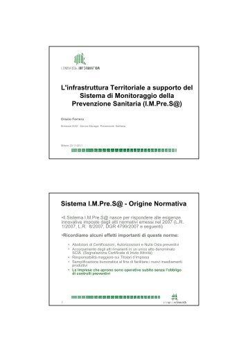 L'infrastruttura Territoriale a supporto del Sistema ... - RisorseComuni