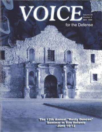 7 - Voice For The Defense Online