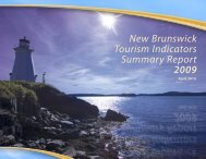 New Brunswick Tourism Indicators Summary Report 2009 April, 2010