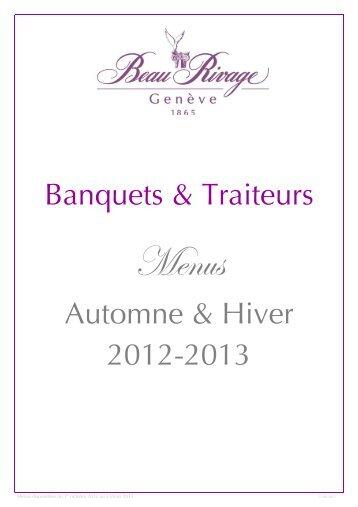 Menus automne-hiver 2012.2013 - hotel beau rivage geneve suisse