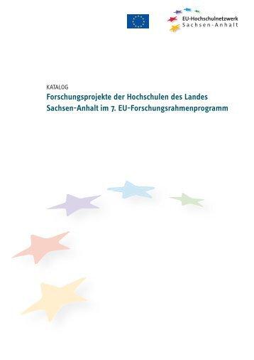 Forschungsprojekte des EU-Hochschulnetzwerk Sachsen-Anhalt