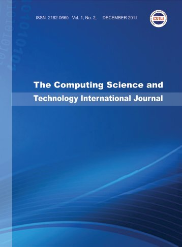 Cover page, Table of Contents and others PDF - Research Publisher