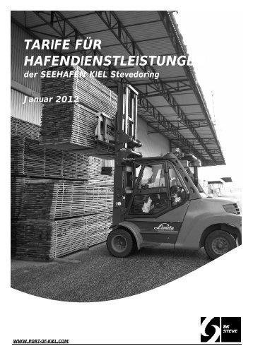 Umschlagstarif 2012 - Port of Kiel