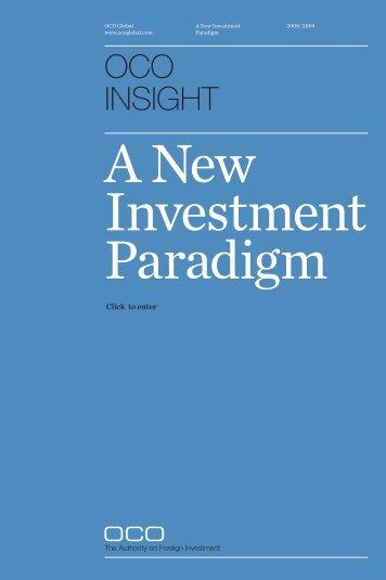 A New Investment Paradigm - Area Development