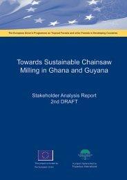 Stakeholder analysis report, 2nd draft - Tropenbos International