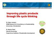 Improving plastic products Improving plastic products through life ...