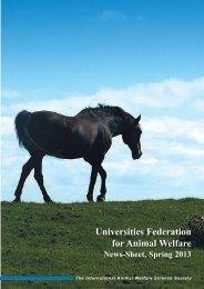 2013 News-Sheet - Universities Federation for Animal Welfare