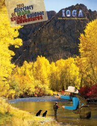 Directory of Idaho Guided Outdoor Adventures (PDF 11.6 MB)