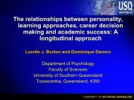 The relationships between personality, learning approaches, career ...
