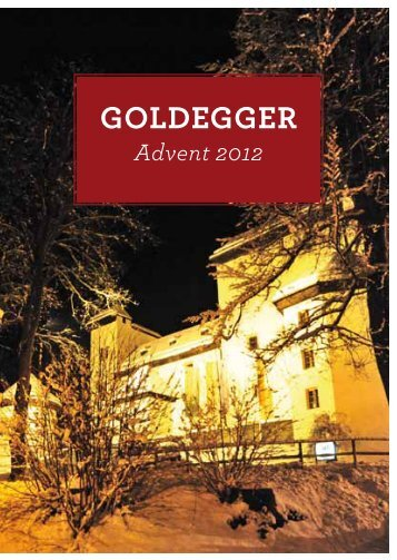 Prospekt Advent 2012 - Goldegg.at