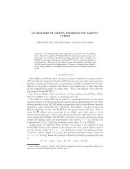 ON REMARKS OF LIFTING PROBLEMS FOR ELLIPTIC CURVES 1 ...