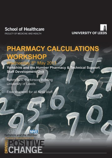 pharmacy calculations workshop - Meds Learning Resources ...