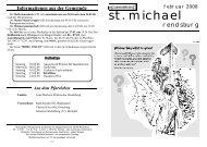 Februar 2008 - Katholische Gemeinde St. Michael (Rendsburg)