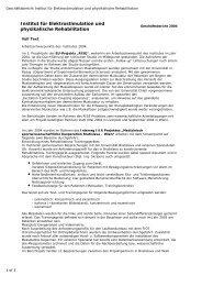 Geschäftsbericht 2004 - Ludwig Boltzmann Institut für ...