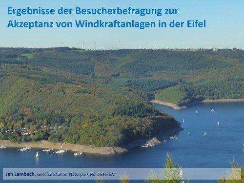 Besucherbefragung zur Akzeptanz von Windkraftanlagen in der Eifel