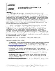 Title: 4-H Urban-Rural Exchange for a Sustainable Future - National ...