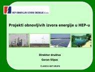 Projekti obnovljivih izvora energije u HEP-u - Obnovljivi.com