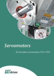 Catalog sheets - TGH and TGT motors - TG Drives