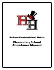 Elementary School Attendance Manual - Hatboro-Horsham School ...