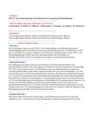 PET-CT in der Radioonkologie: Besonderheiten bei ...