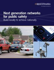 Next generation networks for public safety