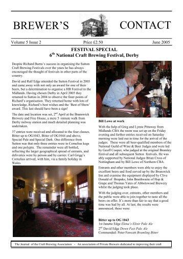 June 2005 - Craft Brewing Association