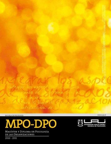 MPO-DPO - Universidad Adolfo Ibañez