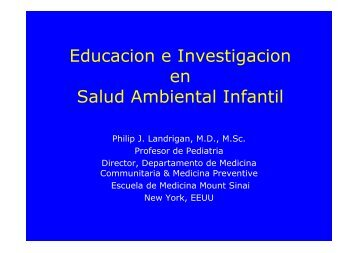 Educacion e Investigacion en Salud Ambiental Infantil