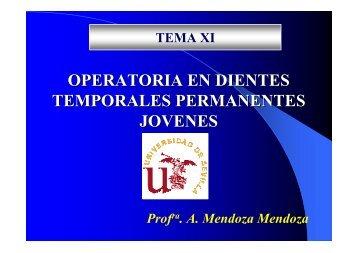 Tema 11 Operatoria en dientes Temporales