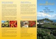 Flyer Finca Lomos Altos - Centro de Terapia Antroposófica