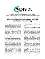 Allgemeine Geschäftsbedingungen (AGB) für den ...