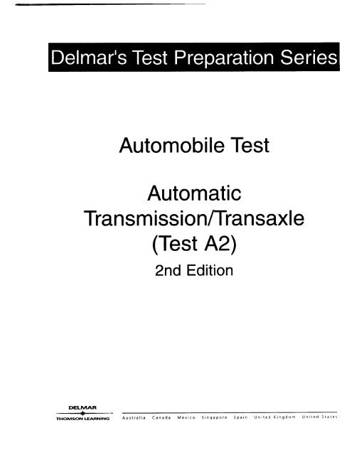 ase automatic transmission study guide