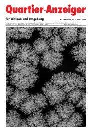 Ausgabe 2, März 2013 - Quartier-Anzeiger Archiv