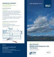 New Horizons - Zentrum für Mittelmeerstudien - Ruhr-Universität ...