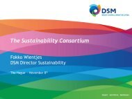 Capital Markets Days 2011 - The Sustainability Consortium
