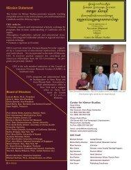 Mission Statement - Center for Khmer Studies