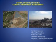 design, construction and landfill operational management - MILE