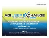 Command, Control, Coordination, Communication ... - AGI