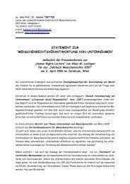 Statement BIM - Ludwig Boltzmann Institut für Menschenrechte