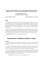 Kadınların Spora Olan İlgilerinin İncelenmesi - KASTAMONU ...
